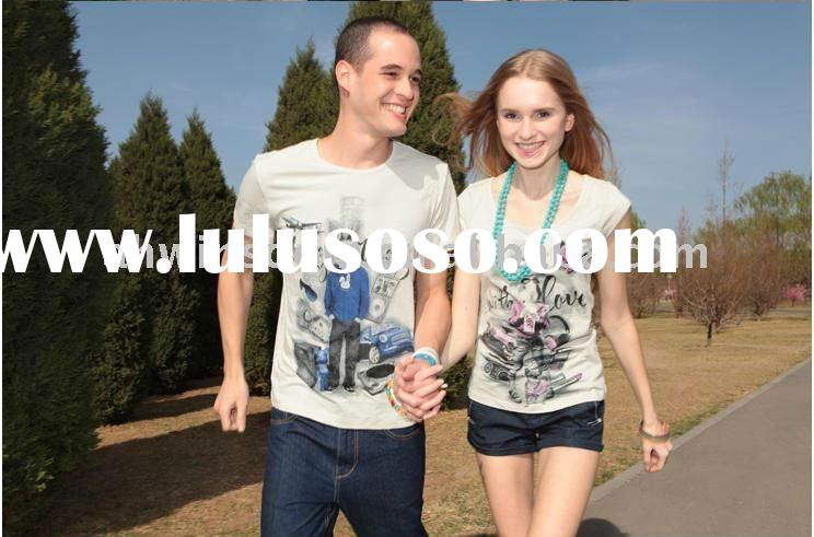 2011 lady's new style The European and American sweety lovers T-shirt