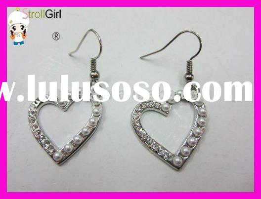 2011 new style dangle earrings with plating silver-StrollGirl AX1647