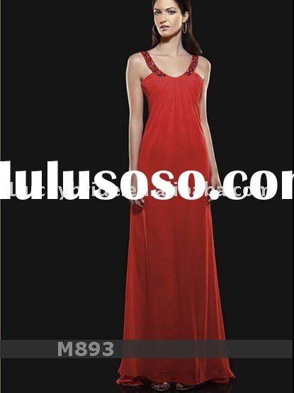 2011 red Chiffon Mermaid Trumpet Wedding dress Evening dress bride gown bridal Dress Prom dress