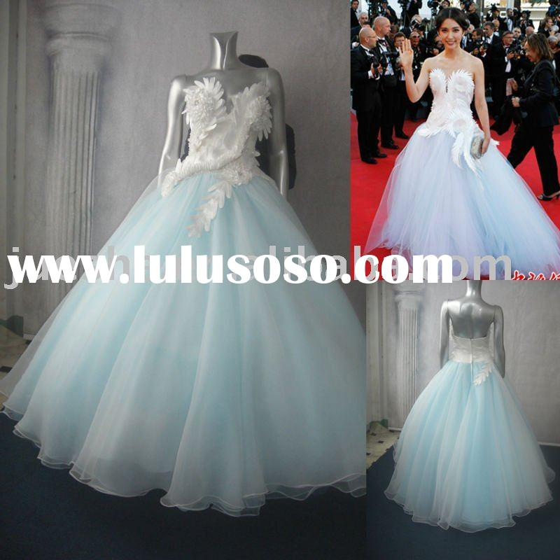 2011 red carpet designer evening dress d-513
