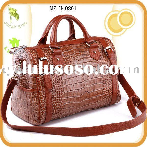2011 top designer ladies fashion genuine leather handbag