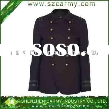 2012 Fashion Men's Military Style Black Spring Dress Jacket