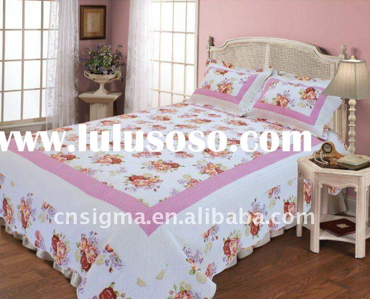 2012 Hot sale 100% cotton printed quilt cover