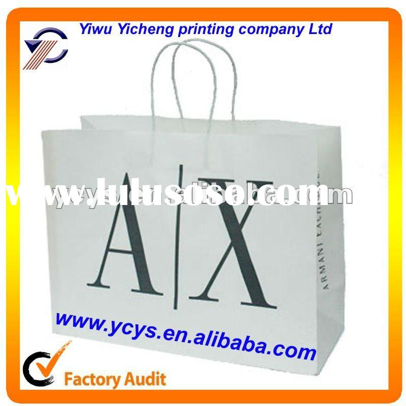 2012 Newly white kraft paper bag with handles