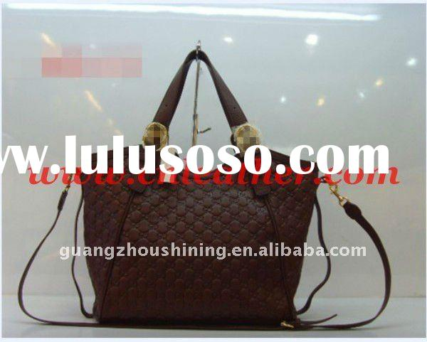 2012 Top quality pure leather bags for women in brown color