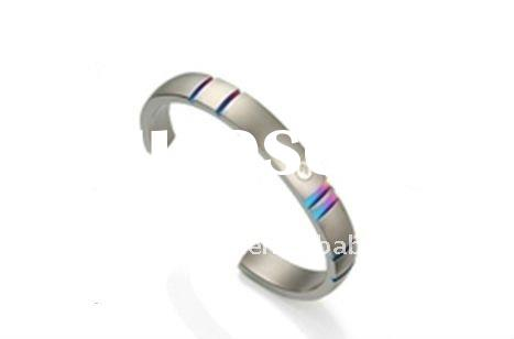 2012 Wholesale Cheap Indian Bangles Engravable Stainless Steel Rainbow Jewelry