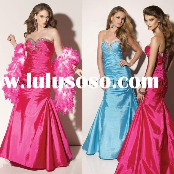 2012 beaded sweetheart floor length plus size prom dresses CWFap3538
