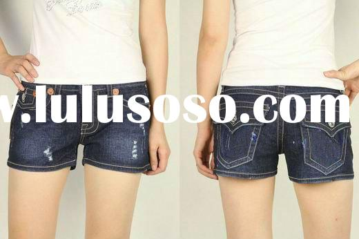 2012 fashion women jeans short 100% cotton, accept paypal