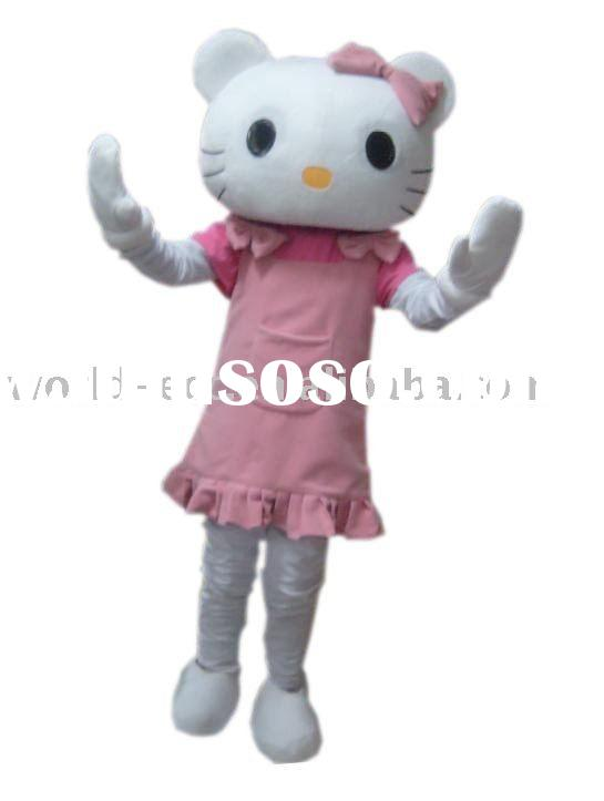 2012 hot promotion Hello Kitty costume, movie cartoon costume, fancy dress costume
