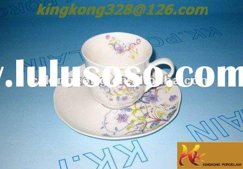 2012 new design porcelain modern tea and espresso cup saucer