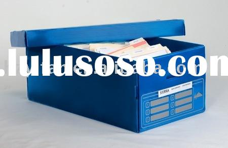 2012 new sales foldable corrugated plastic packing case toy box file box foot storage plastic box wi