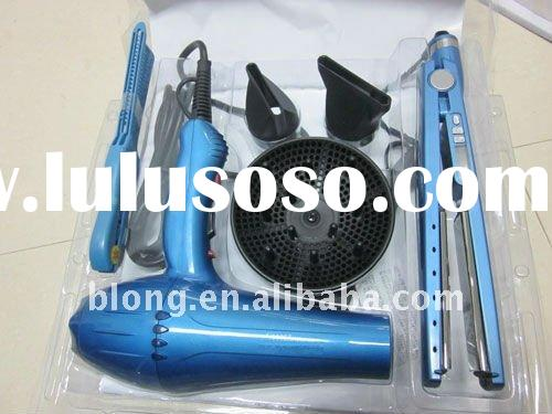 2012 new style pro nano titanium hair dryer , straighteners , plate iron , combo