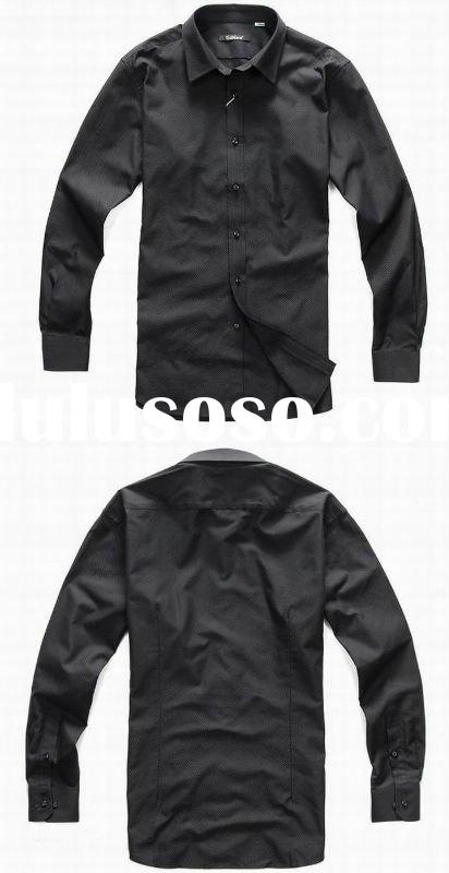 2012 newest design men's fashion style business casual shirts in humen