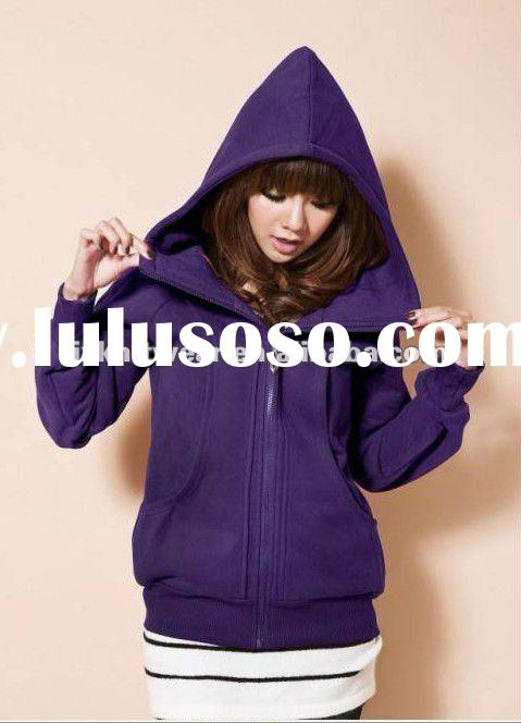 2012 newest fashion women's cotton sweater hoody