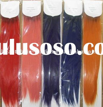 "22"" Colorful Synthetic Hair Extension--Heat temperature resistant"