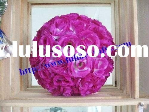 25cm artificial flowers ball,wedding decorations,christmas decoration