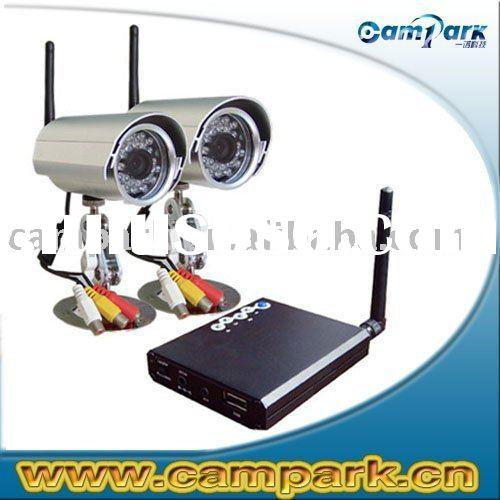 2.4G Wireless MINI CCD IR camera with SD recording Scanner DVR