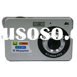 2.7 inch TFT Screen 12 Mega Pixels Digital Camera