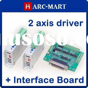 2 axis CNC kit Two-Phase Stepper Motor Driver + CNC interface board #UC117