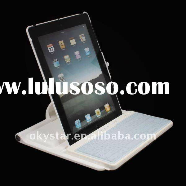 360 Rotation Holder with Drawer Style Moving Bluetooth Keyboard Case for iPad 2