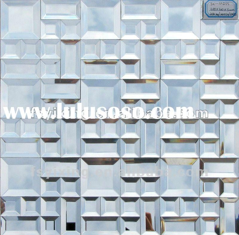 3D mirror glass mosaic tile for wall, background, villa decoration