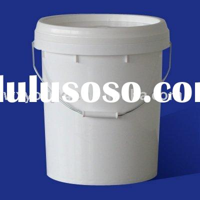 3.5 gallon plastic round bucket with handle (food grade)