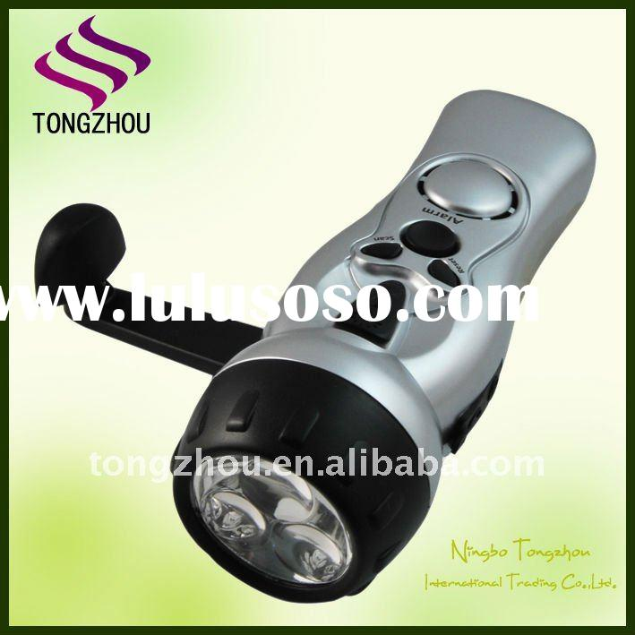 3 LED radio torch dynamo flashlight