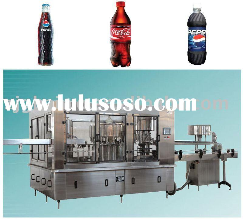 3-in-1 pet bottle or glass bottle galss bottled drink filling machinery gas containing drink filling