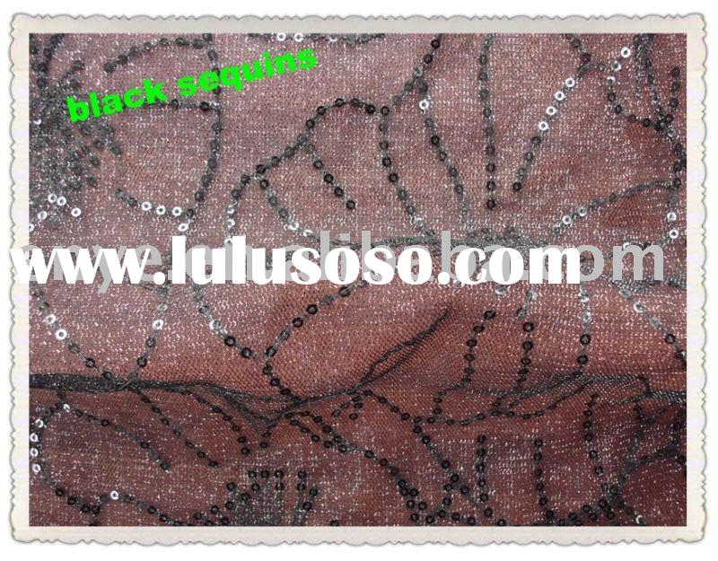 3mm Sequins Spangle Metallic Mesh Embroidery Fabric