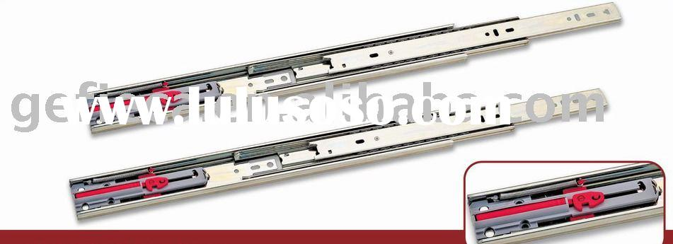 45mm 3 fold full extension ball bearing drawer slide with soft close bumper