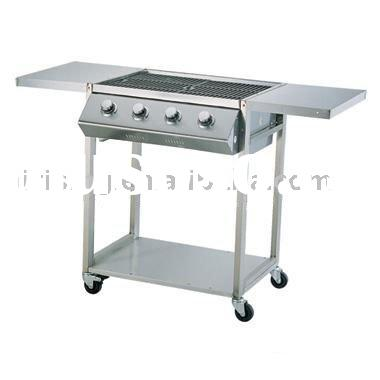 4 burners stainless steel gas barbeque grill