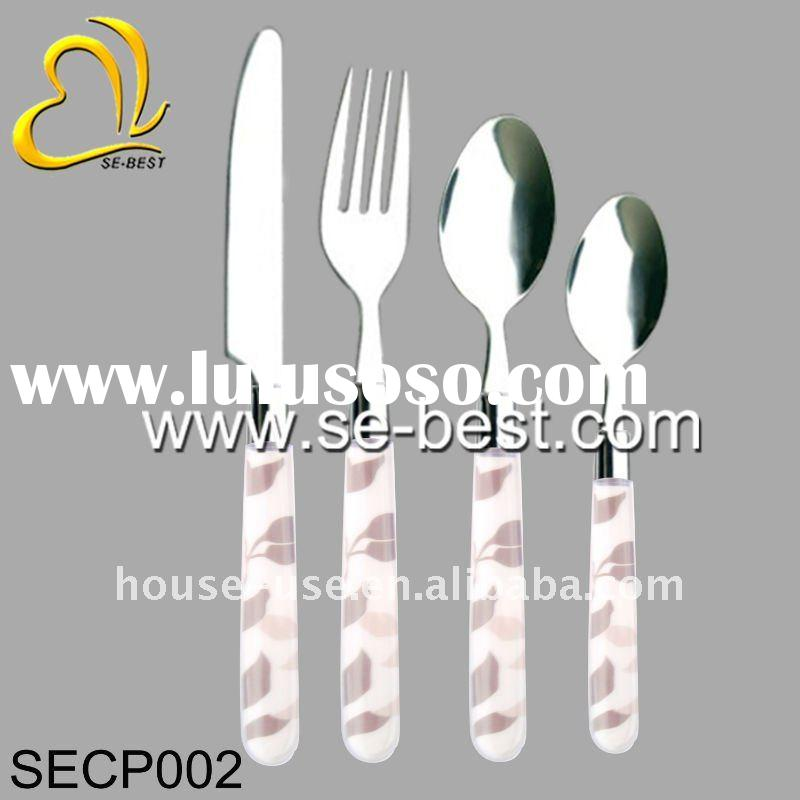 flatware set with plastic handle, flatware set with plastic handle ...