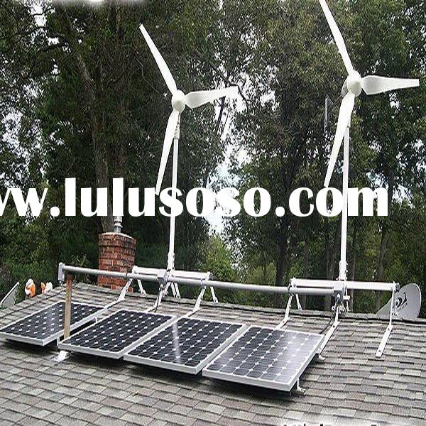 5000W wind solar power supply home system in China