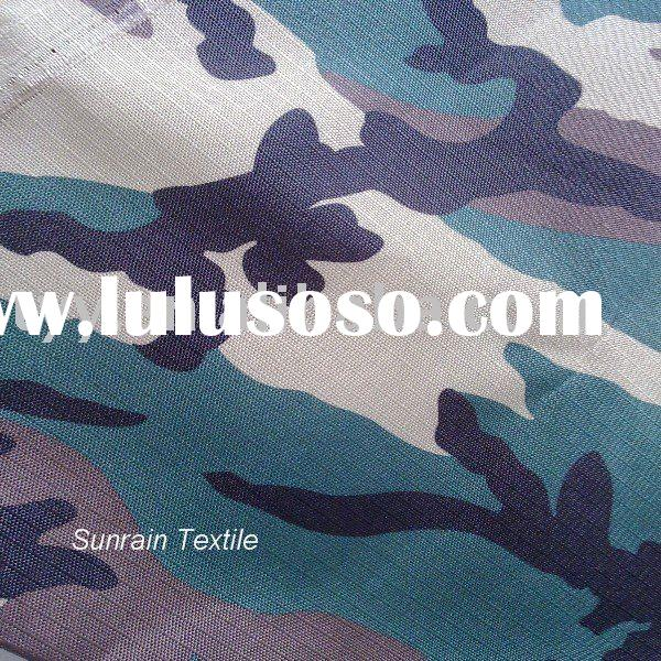 500D polyester oxford camouflage printed pu waterproof fabric ISO 9001
