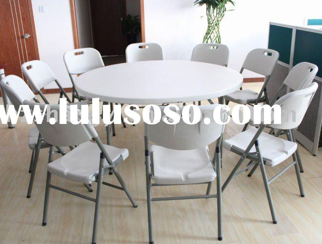 60 inch plastic banquet round folding table and chair set