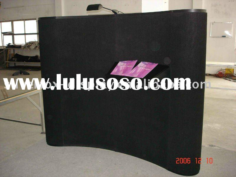 6 ft table top pop up display with velcro fabric panels