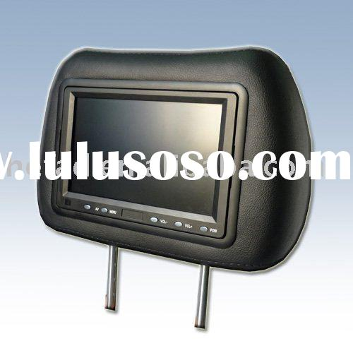7 Inch Car Headrest LCD Monitor with AV VGA and Touch screen