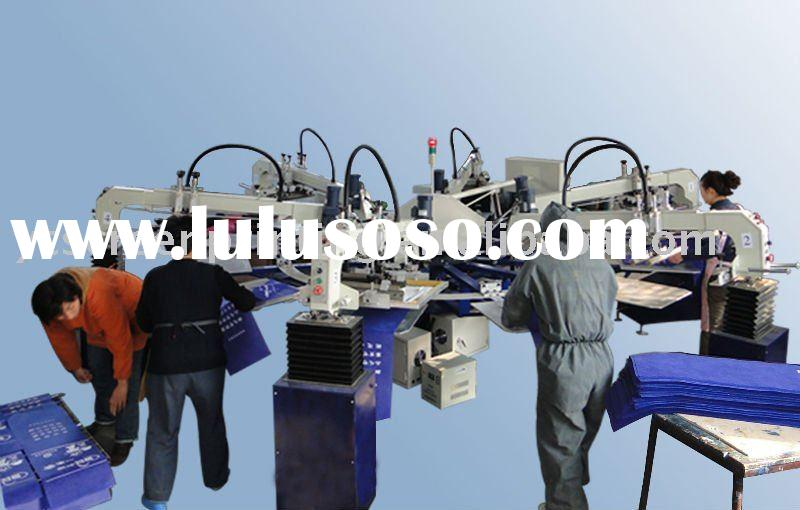 8-color 24 stations automatic garment printing machine & screen printing machine
