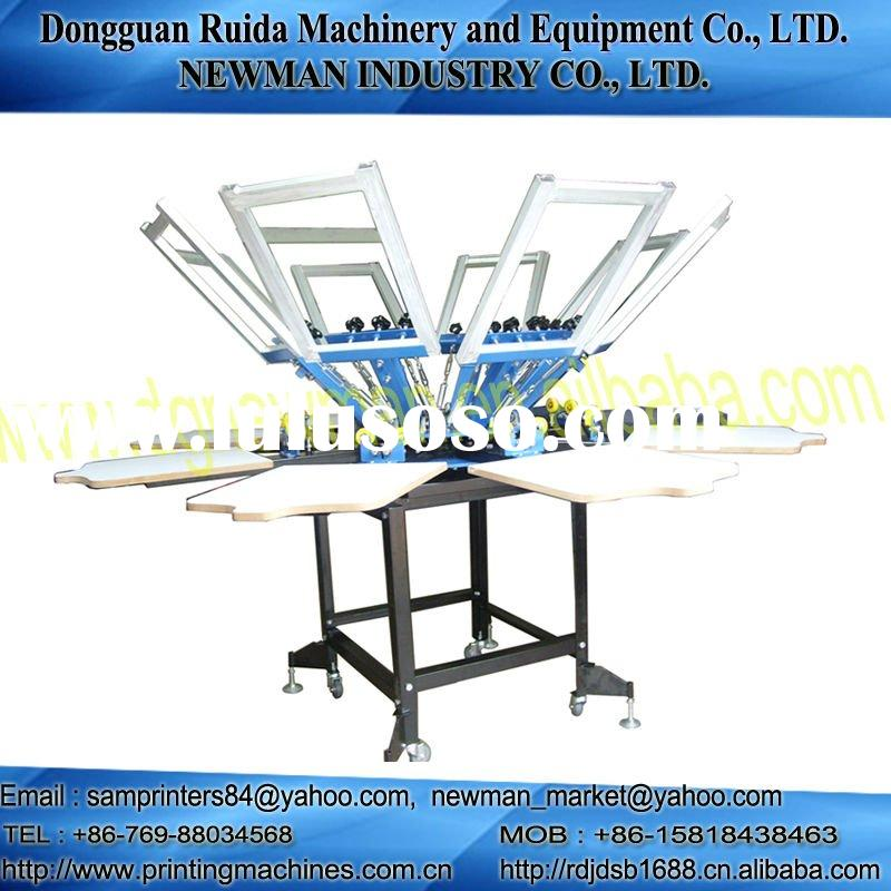 8 color 8 station T-shirt Silk screen printing press machine