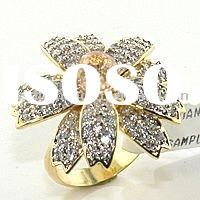 925 SIlver Gold Plated Fashion Ring