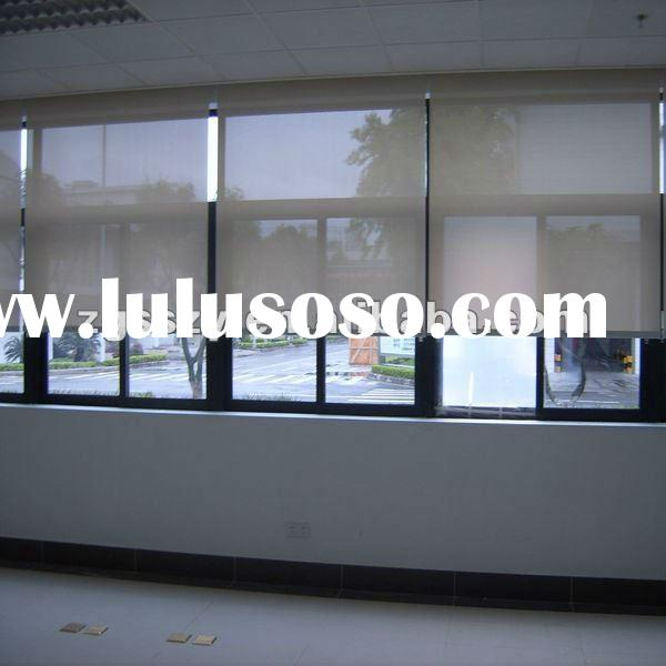 Roller shades roller shades manufacturers in for Motorized blackout roller shades