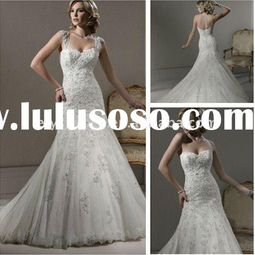 A-line Gown Sweetheart Romance Lace Plus Size Wedding Dresses