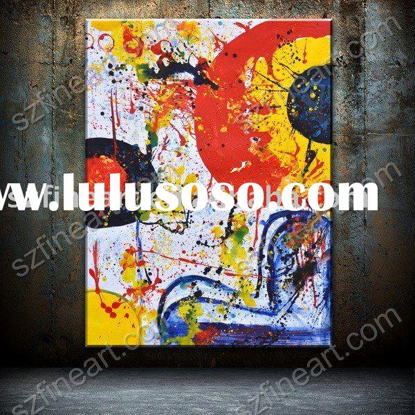 Abstract art oil painting with thick texture AB-655-01