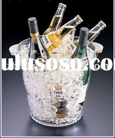 Acrylic Honeycomb Ice Bucket,Wine Cooler,Acrylic Champagne Bucket