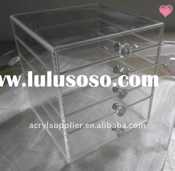Acrylic Makeup Organizer Clear Box Cosmetic Cases with Drawers