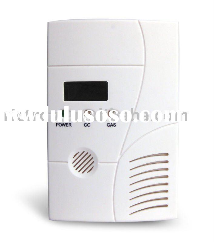 Alarm Gas and Co Combination Detector RC412COM with 220VAC 9V Battery Backup or 12V Adaptor 07