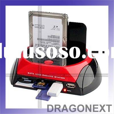 """All-in-1 Dual 2.5""""/3.5"""" HDD IDE/SATA Docking Station With One Touch Backup"""