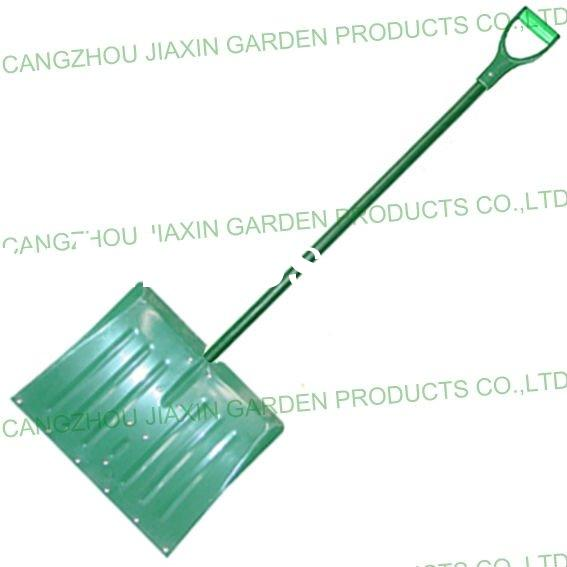 Aluminum Snow Shovel with Fiberglass Handle