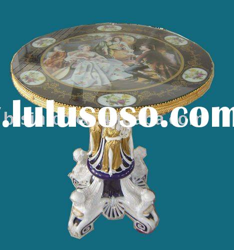 Antique hand painted Round Table,hand carving, made of ceramic,home decoration products,MOQ:1PC