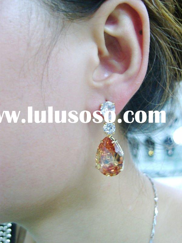 Arabic women jewelry/wedding earring 18K gold jewelry